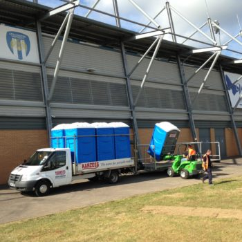 Karzees Hire Event Toilets for Colchester UFC event