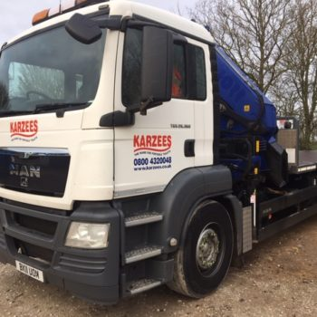 Hi-Ab Lorry for Delivering Welfare Units and Site Storage Containers