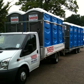 Event Loos being delivered to a festival